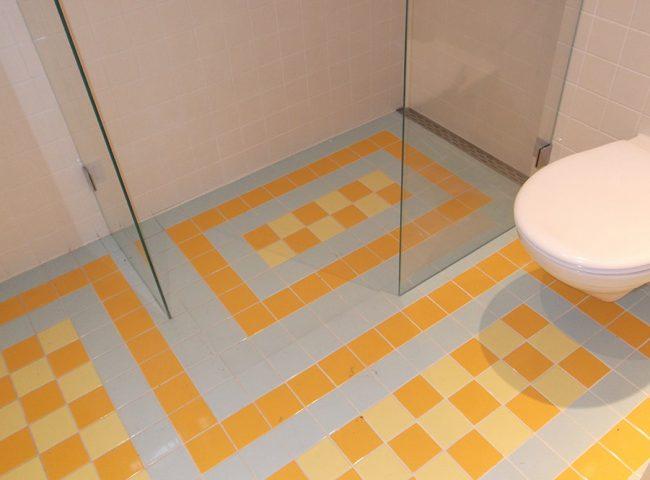 tegelpatroon vloer badkamer villa Admiraal-Stoute