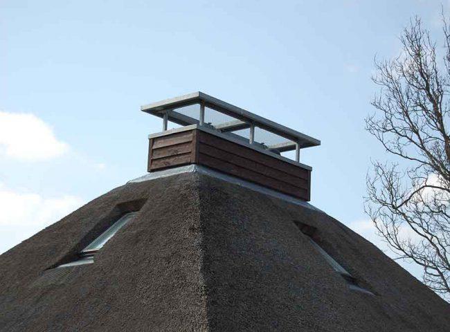 schoorsteen recreatiewoning Duynvallei Architektenburo Admiraal Stoute