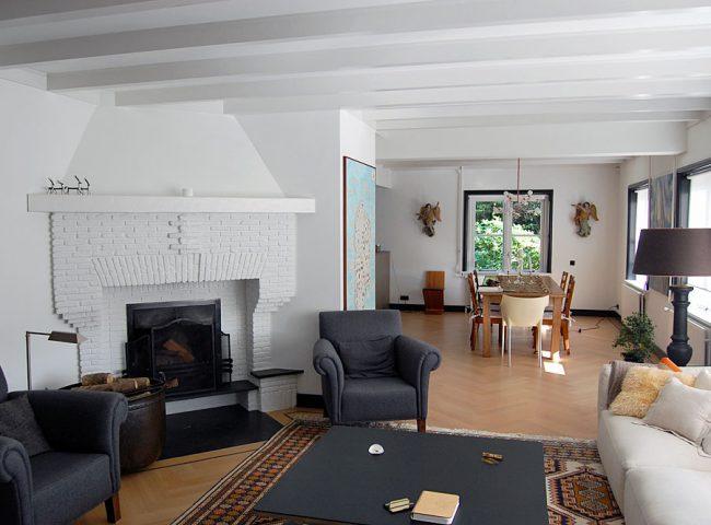 Doorbraak woonkamer verbouw vrijstaande villa Bergen Admiraal-Stoute
