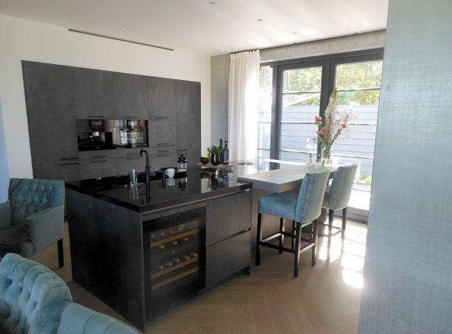 keuken nieuwbouw wit vrijstaand huis heiloo
