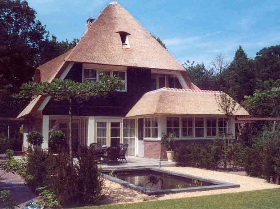 huizen rieten kap architectenburo Admiraal Stoute